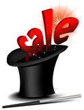 Magic sale hat Royalty Free Stock Photography
