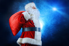 Magic santa royalty free stock photography