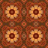 Magic seamless pattern with flower - mandala on bright ornamental background. Stock Photography