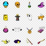 Magic set icons Royalty Free Stock Image