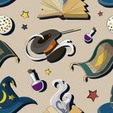 Magic set pattern. Magic party. Vector illustration EPS 10 Stock Image