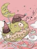 Magic sheep coloring page Royalty Free Stock Photos