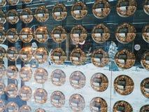 magic shiny balls in a shop window, Kiev Stock Image