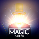 Magic Show Background With Invisible Illusionist Stock Image