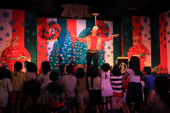Magic show. For chilhood on the stage in the shoping center,bangkok, Thailand Royalty Free Stock Image