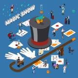 Magic Show Isometric Composition Stock Image