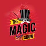 The magic show. Vector illustration Stock Image