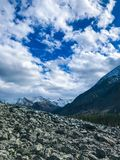 Magic sky of Altai Mountains. Russia. September 2018 royalty free stock images