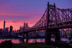 Magic sky over Manhattan Royalty Free Stock Photo