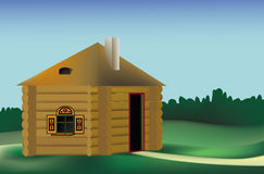 Magic small house. This image is a vector illustration and can be scaled to any size without loss of resolution Royalty Free Stock Images