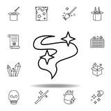 magic smoke outline icon. elements of magic illustration line icon. signs, symbols can be used for web, logo, mobile app, UI, UX royalty free illustration