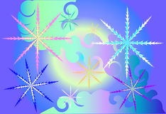 Magic snowflakes Stock Image