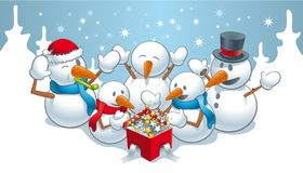 Magic for snowmens Royalty Free Stock Photography