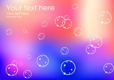 Magic soap bubble background Royalty Free Stock Images
