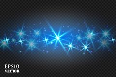 Magic Space. Abstract Universe Background. Blue Background and Shining Stars. Vector illustration . Eps 10 royalty free illustration