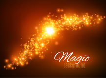 Magic Space. Fairy Dust. Infinity. Abstract Universe Background. Blue Background and Shining Stars. Vector illustration Royalty Free Stock Photos