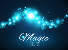 Magic Space. Fairy Dust. Infinity. Abstract Universe Background. Blue Background and Shining Stars. Vector illustration Stock Images