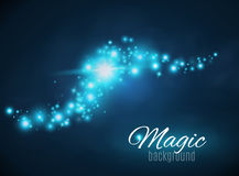 Magic Space. Fairy Dust. Infinity. Abstract Universe Background. Blue Background and Shining Stars. Vector illustration Royalty Free Stock Photography