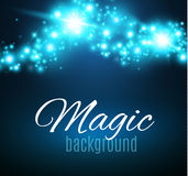 Magic Space. Fairy Dust. Infinity. Abstract Universe Background. Blue Background and Shining Stars. Vector illustration Royalty Free Stock Image