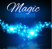 Magic Space. Fairy Dust. Infinity. Abstract Universe Background. Blue Background and Shining Stars. Vector illustration Stock Photography