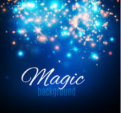 Magic Space. Fairy Dust. Infinity. Abstract Universe Background. Blue Background and Shining Stars. Vector illustration Stock Image