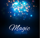 Magic Space. Fairy Dust. Infinity. Abstract Universe Background. Blue Background and Shining Stars. Royalty Free Stock Photography