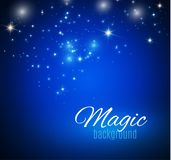 Magic Space. Fairy Dust. Infinity. Abstract Universe Background. Blue Background and Shining Stars. Vector illustration.  vector illustration