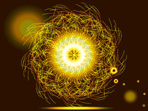 Magic sparkle circle Stock Photography