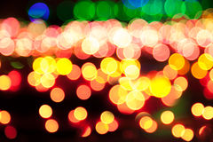 Magic sparkle, light dots and bokeh effect Stock Images