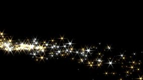 Magic sparkles fairy dust wand particle trail gold silver zigzag transition stock footage