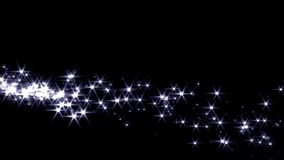Magic sparkles fairy dust wand particle trail silver zigzag transition stock video footage
