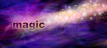 Magic Sparkles Website Banner Royalty Free Stock Images