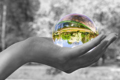 Magic sphere Stock Image