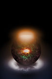 Magic sphere. Illustration of a magic sphere Royalty Free Stock Images