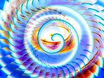 Magic spiral illustration background Royalty Free Stock Photo