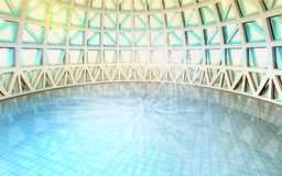 Magic spiritual architectural swiming pool dome Stock Photos
