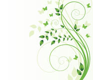 Magic spring tree with butterflies and space for t. Ext Stock Illustration