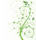 Magic spring tree with butterflies and space for t. Ext Vector Illustration
