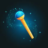 Magic staff wand casting spells Royalty Free Stock Image