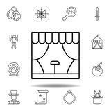 magic stage building outline icon. elements of magic illustration line icon. signs, symbols can be used for web, logo, mobile app vector illustration