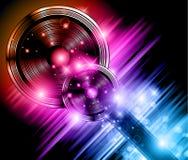 Magic Star Lights Disco flyer vector illustration