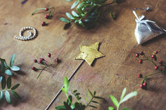 Magic star wand and little gifts Stock Photography