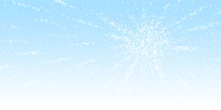 Magic stars Christmas background. Subtle flying sn. Ow flakes and stars on winter sky background. Astonishing winter silver snowflake overlay template. Curious stock illustration
