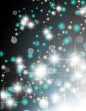 Magic stars descending on beams of light Royalty Free Stock Photo