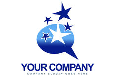 Magic Stars Logo Royalty Free Stock Photography