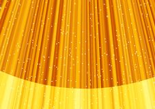 Magic stars on rays of golden light. Vector Royalty Free Stock Photography