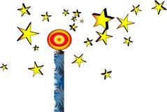 Magic stick with stars. Cartoon clip art magic stick with starts vector illustration