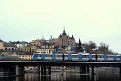 Magic of Stockholm. Holidays in Sweden. Early spring stock photo
