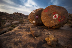 Magic stones. Two stones in Hampi, India Royalty Free Stock Photography