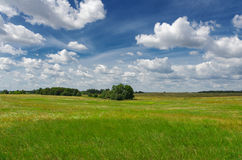 Magic Summer Landscape. Windows background style. Stock Photo
